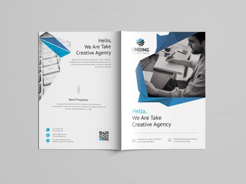 Fancy professional bi fold brochure template 001099 for Fancy brochure templates