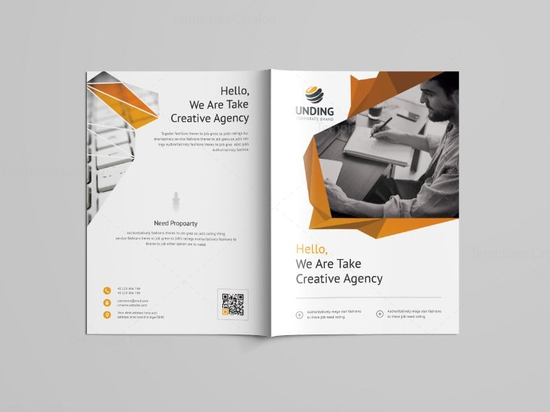 fancy professional bi fold brochure template 001099 template catalog