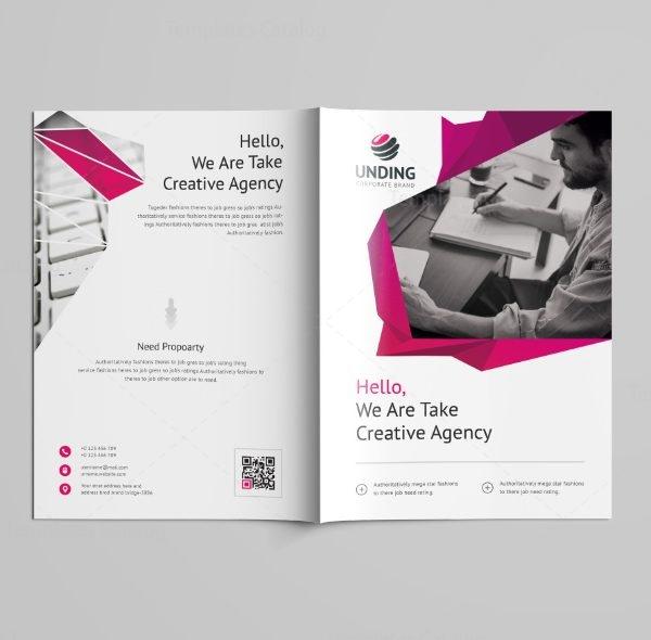 Fancy Professional Bi-Fold Brochure Template 7