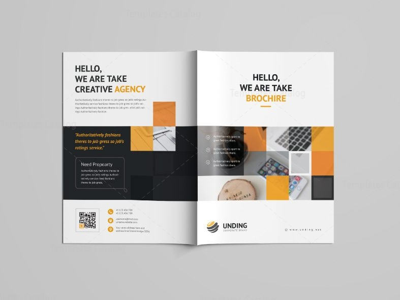 Goddess professional bi fold brochure template 001092 for Professional brochure templates