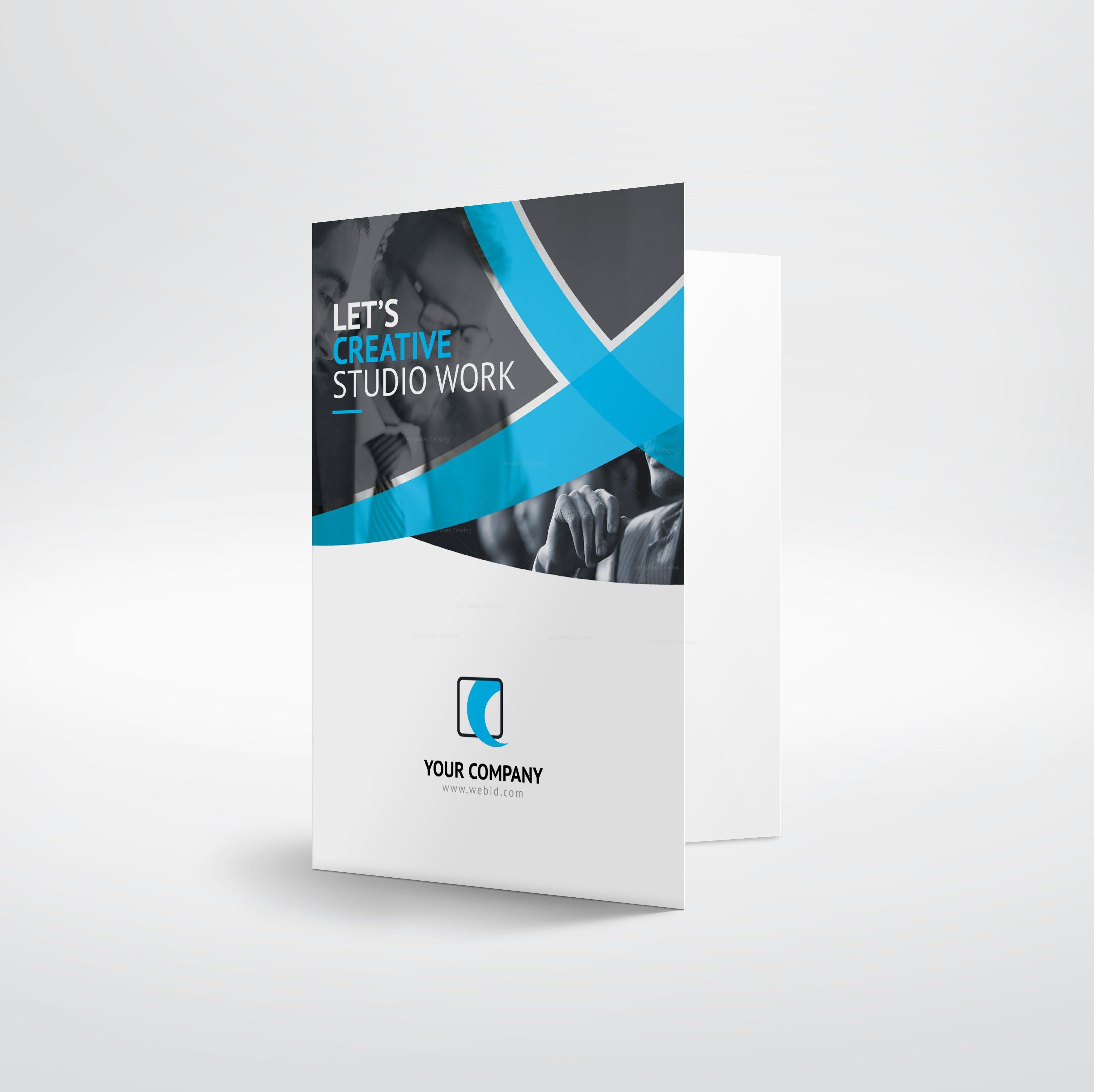 Hades Sleek Presentation Folder Template Template Catalog - Brochure folder template