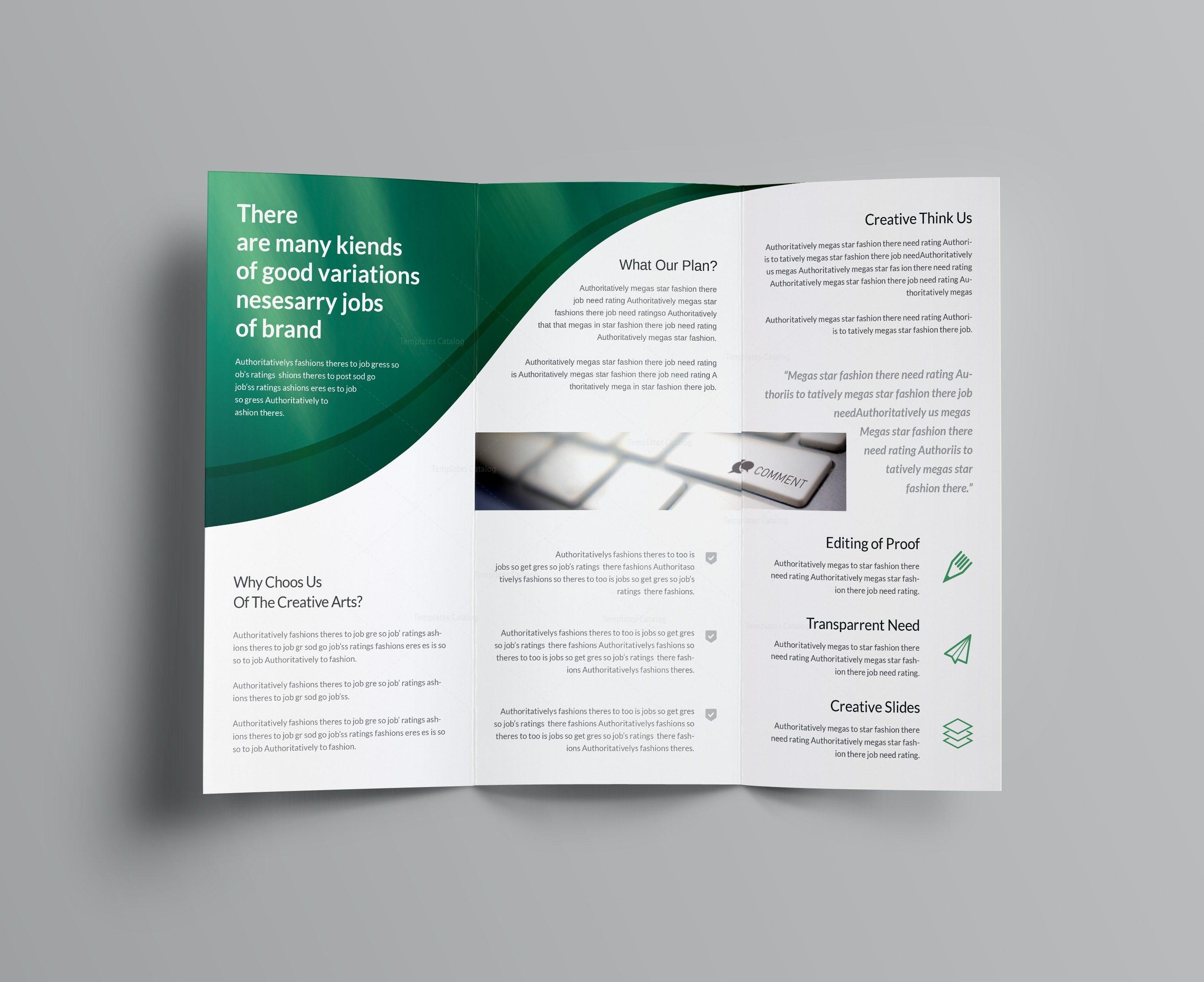 corporate brochures templates - halley corporate tri fold brochure template 001167