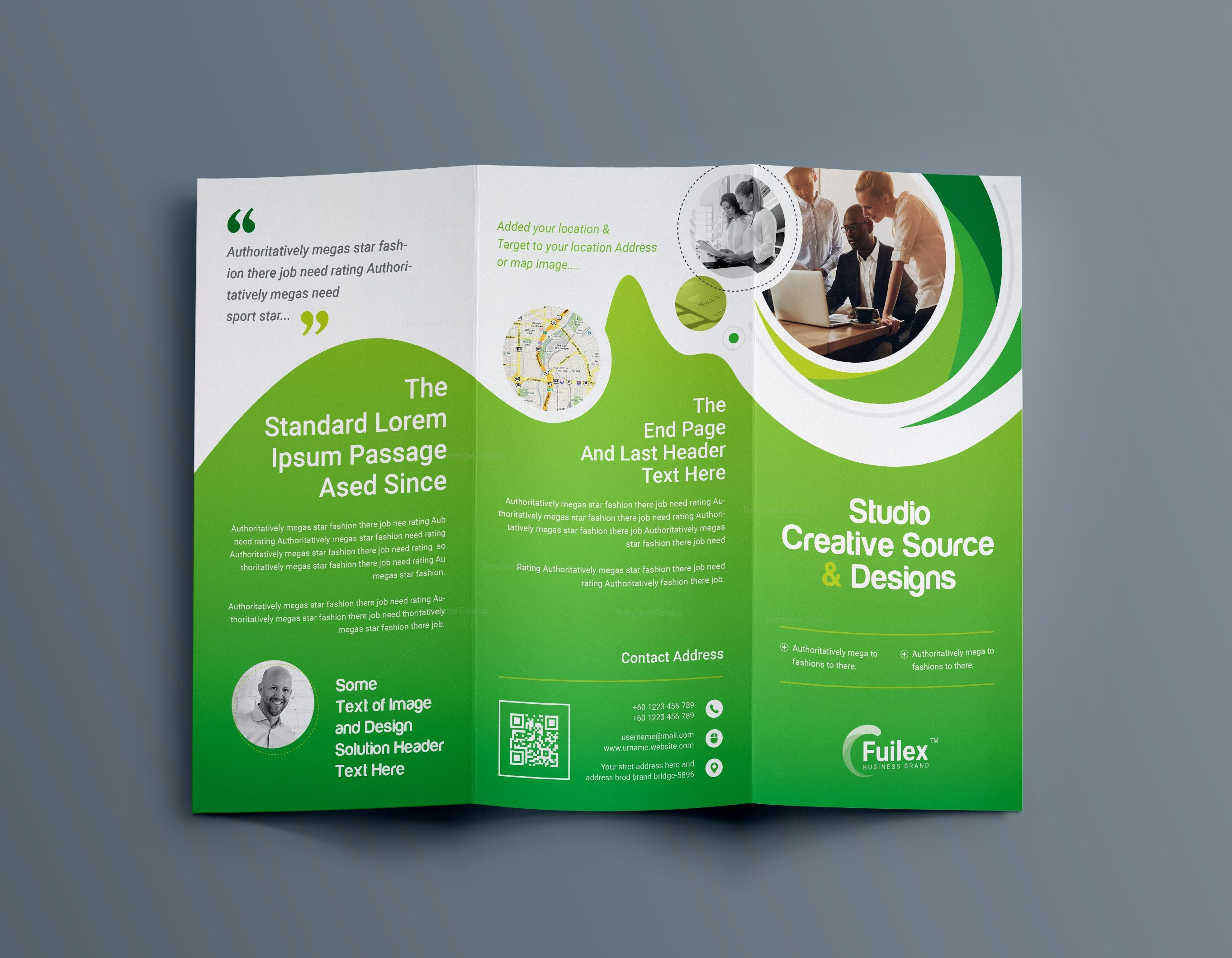 hypnosis professional tri fold brochure template 001203 template