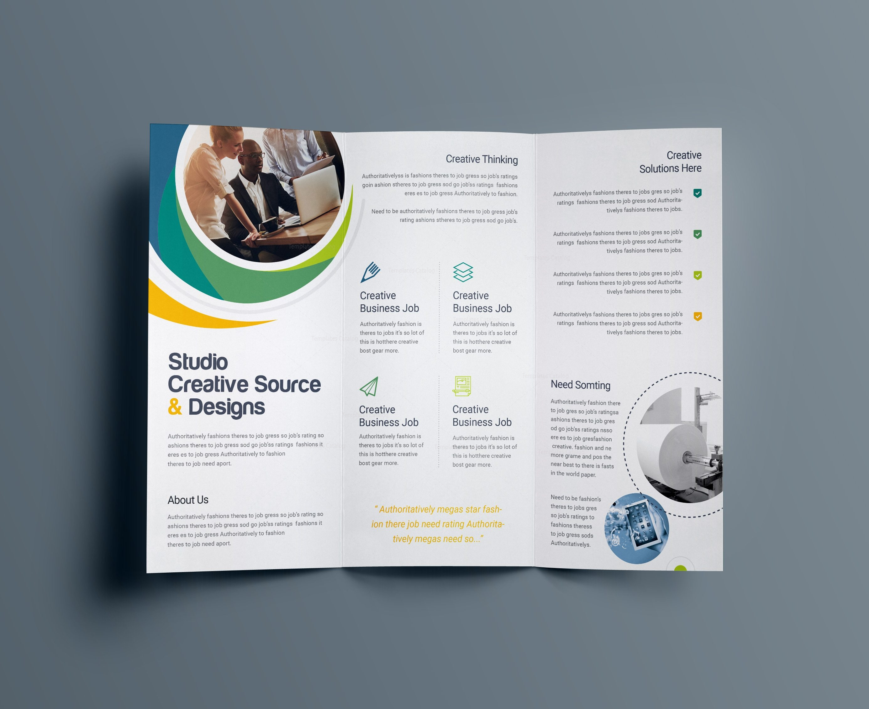 Hypnosis professional tri fold brochure template 001203 for 3 fold brochure design templates