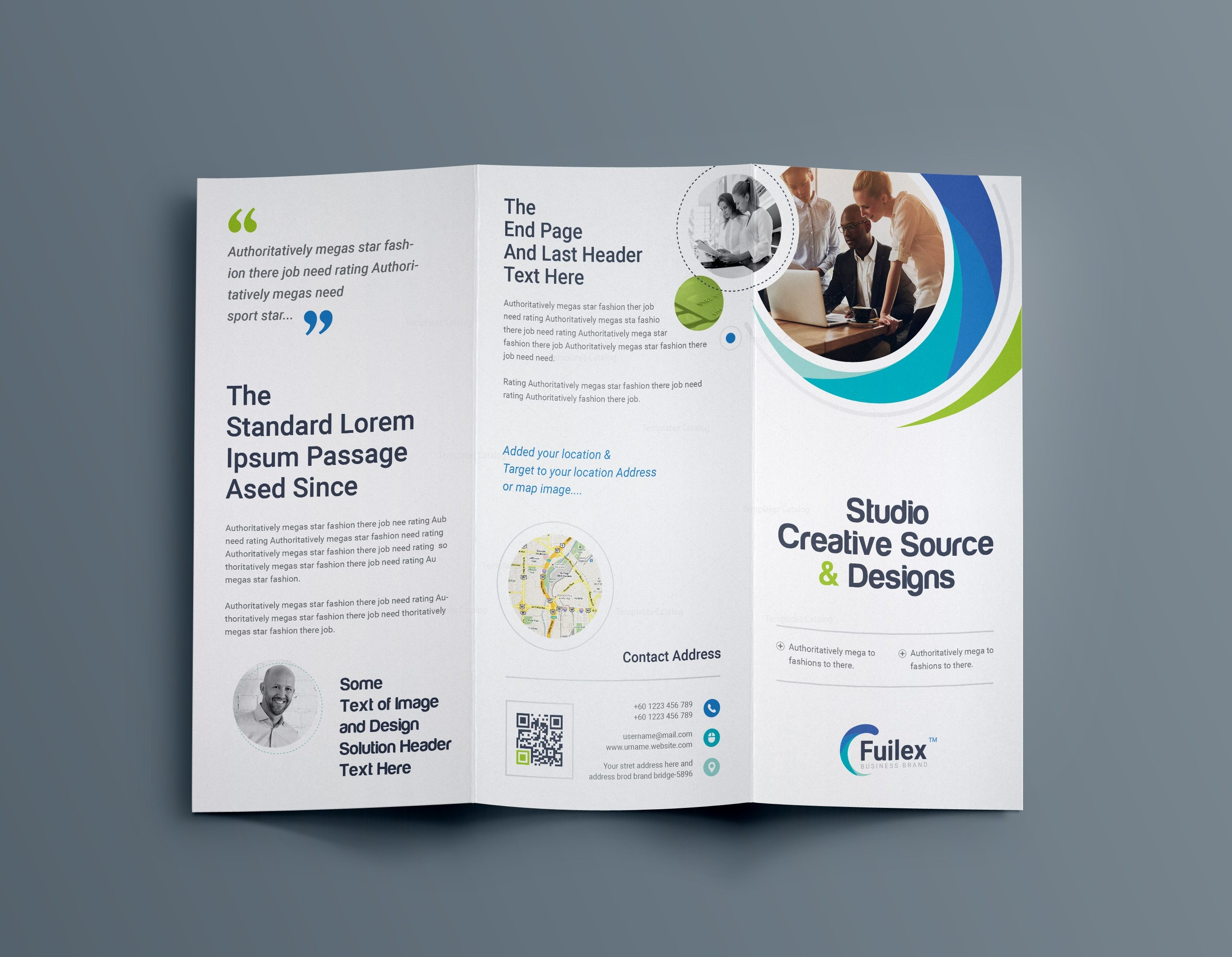 Hypnosis professional tri fold brochure template 001203 for Professional brochure templates