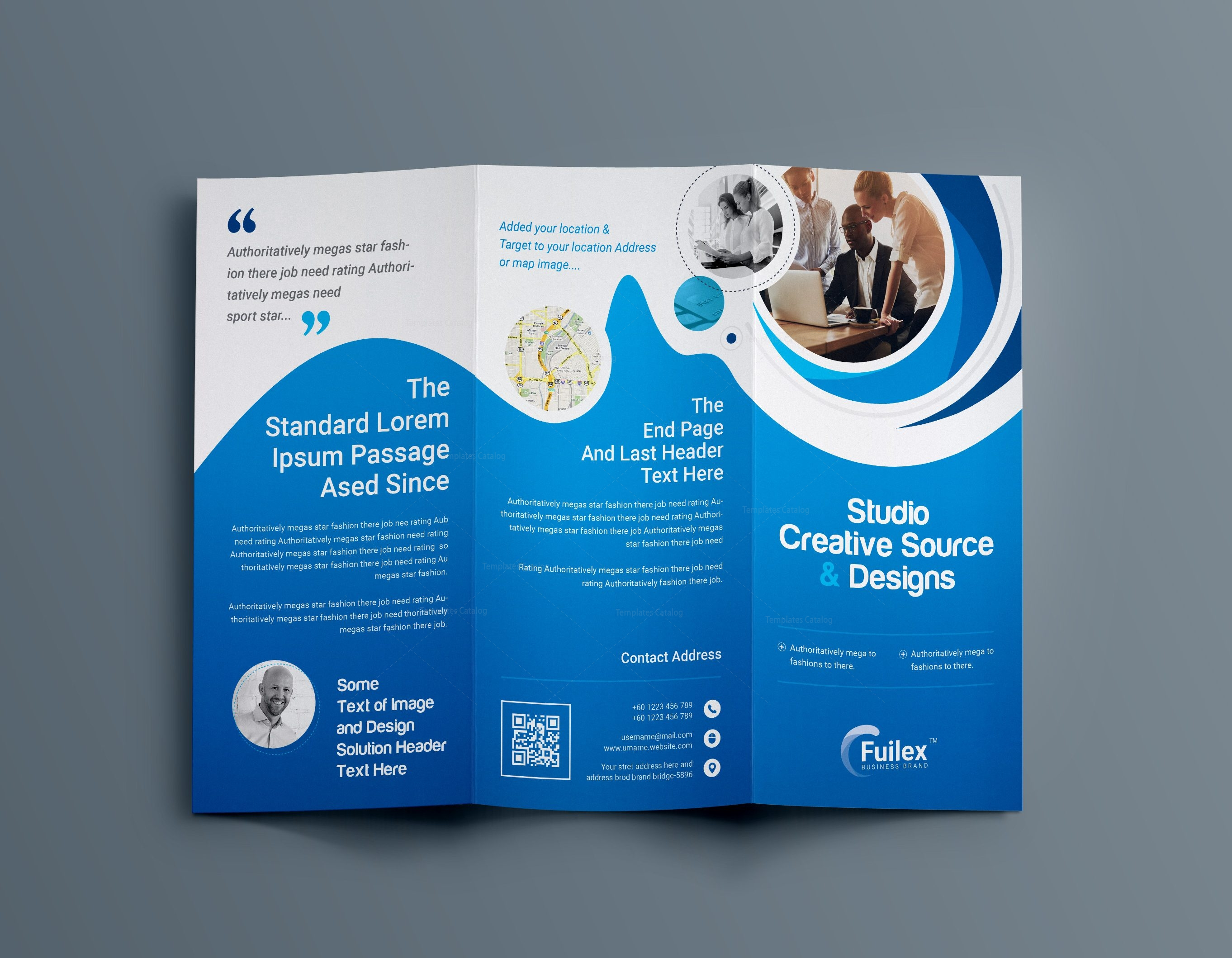 Hypnosis professional tri fold brochure template 001203 for Templates for flyers and brochures