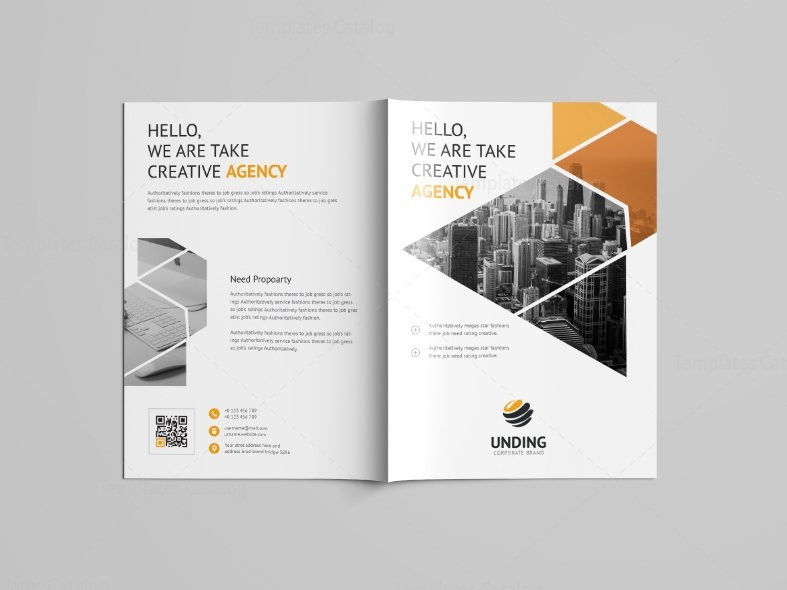 Jupiter professional bi fold brochure template 001087 for Professional brochure design templates