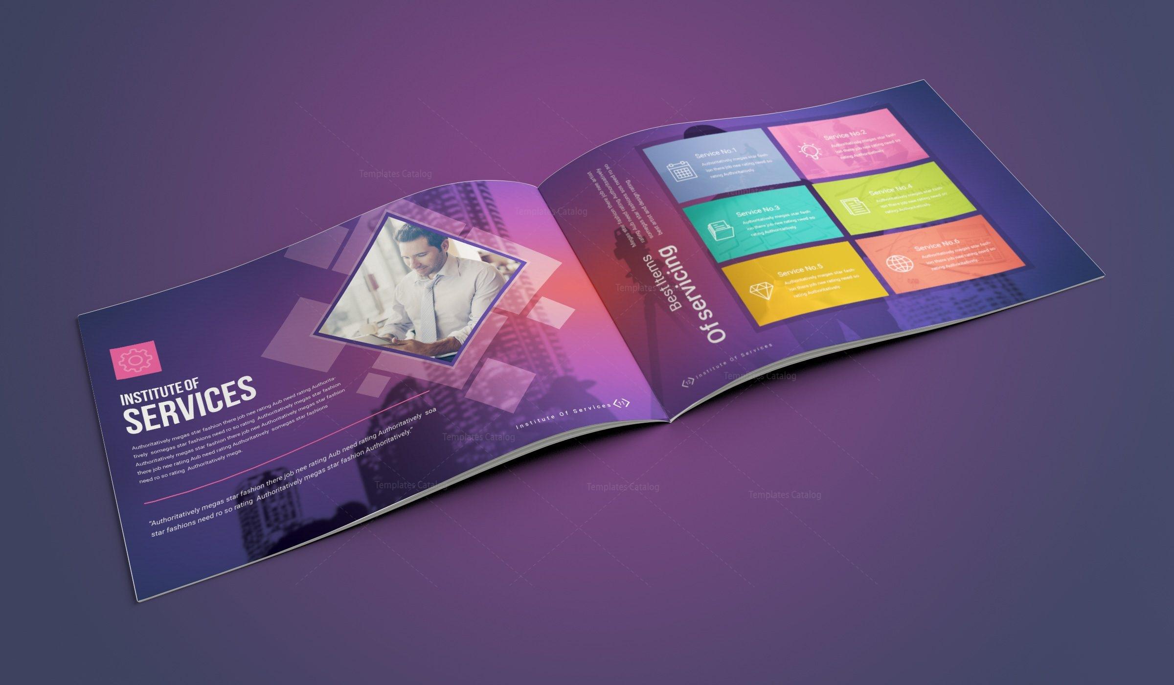 16 pages neptune corporate landscape brochure template 001194