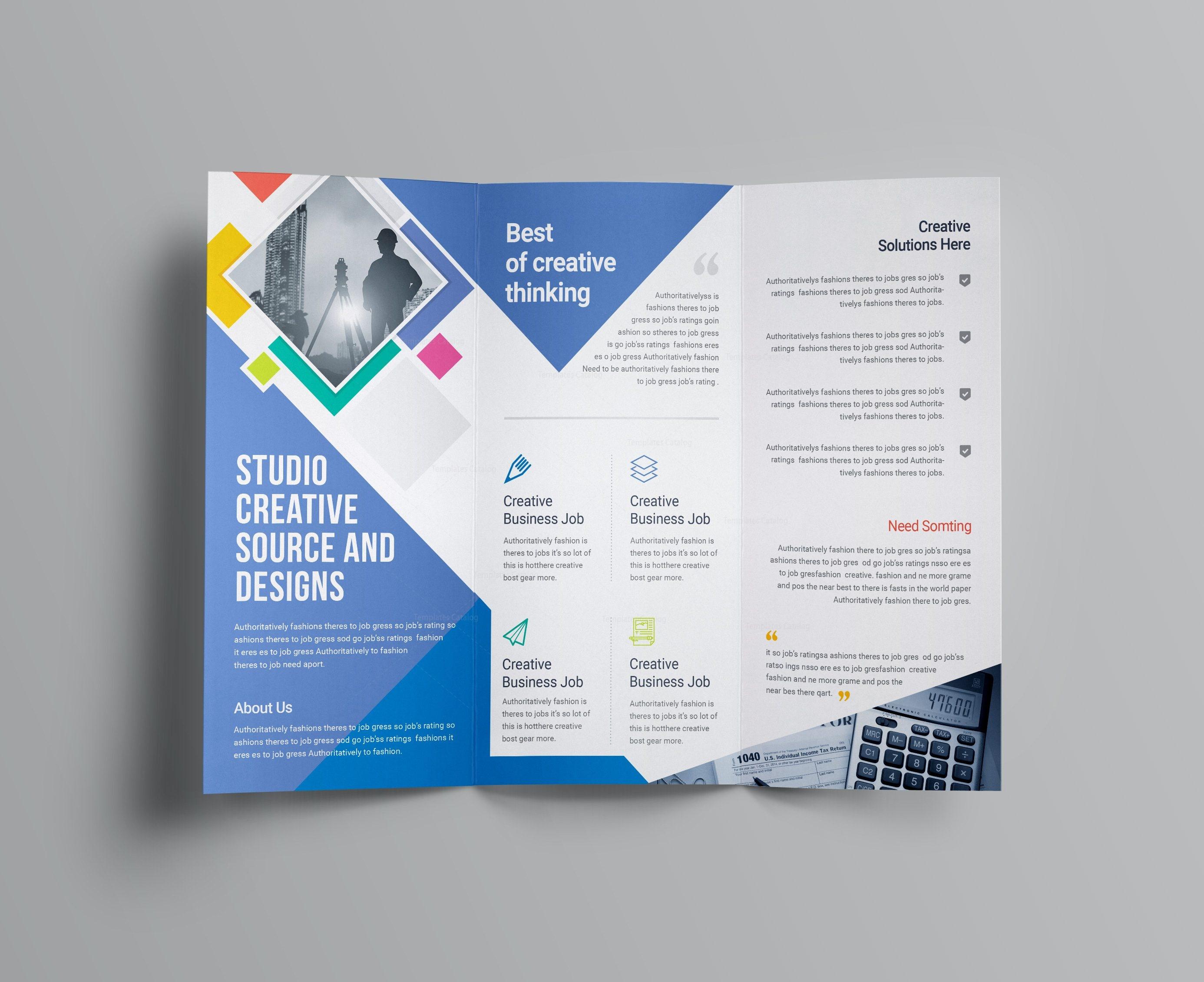 neptune professional corporate tri fold brochure template 001207