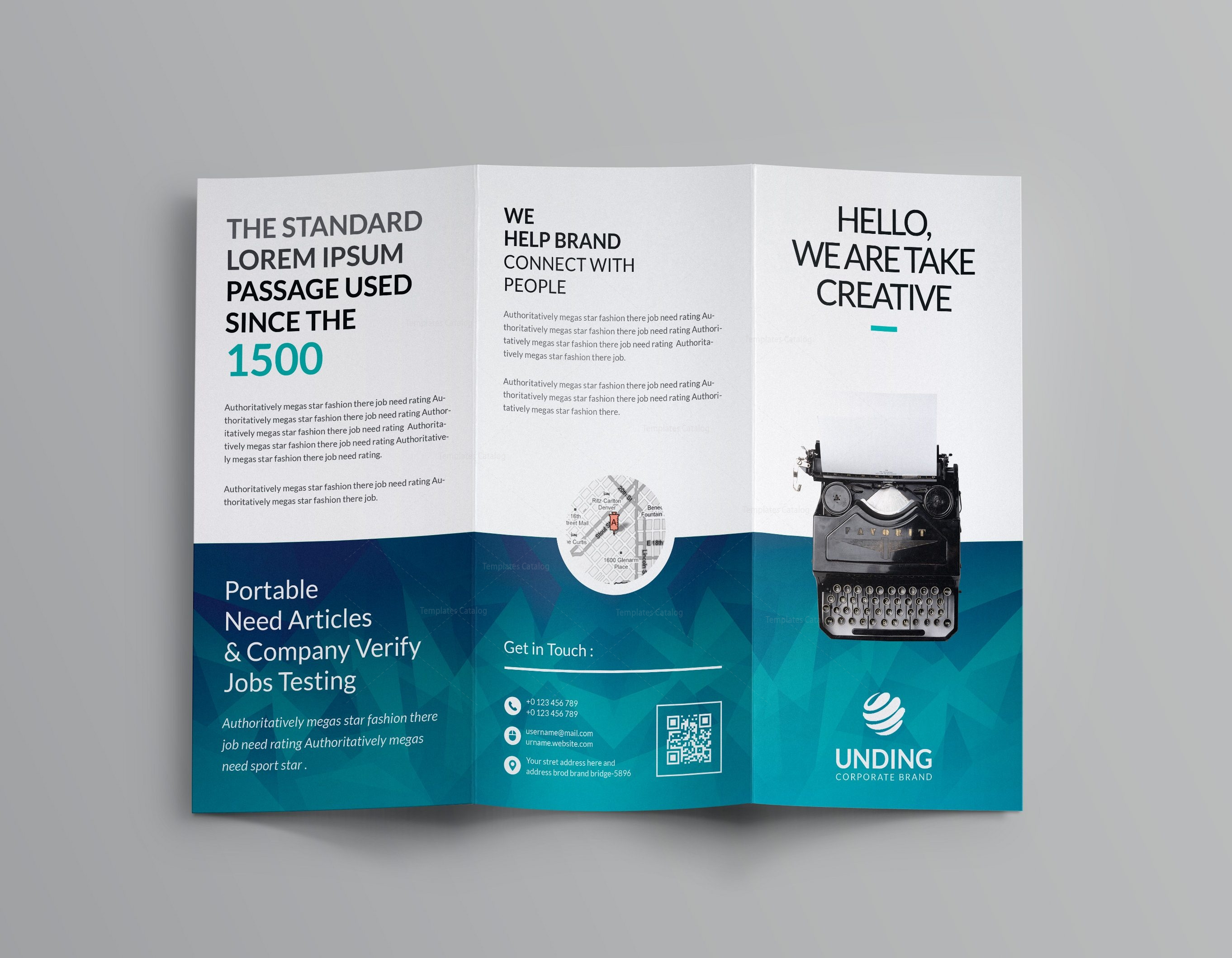 one fold brochure template - ocean corporate tri fold brochure template 001169