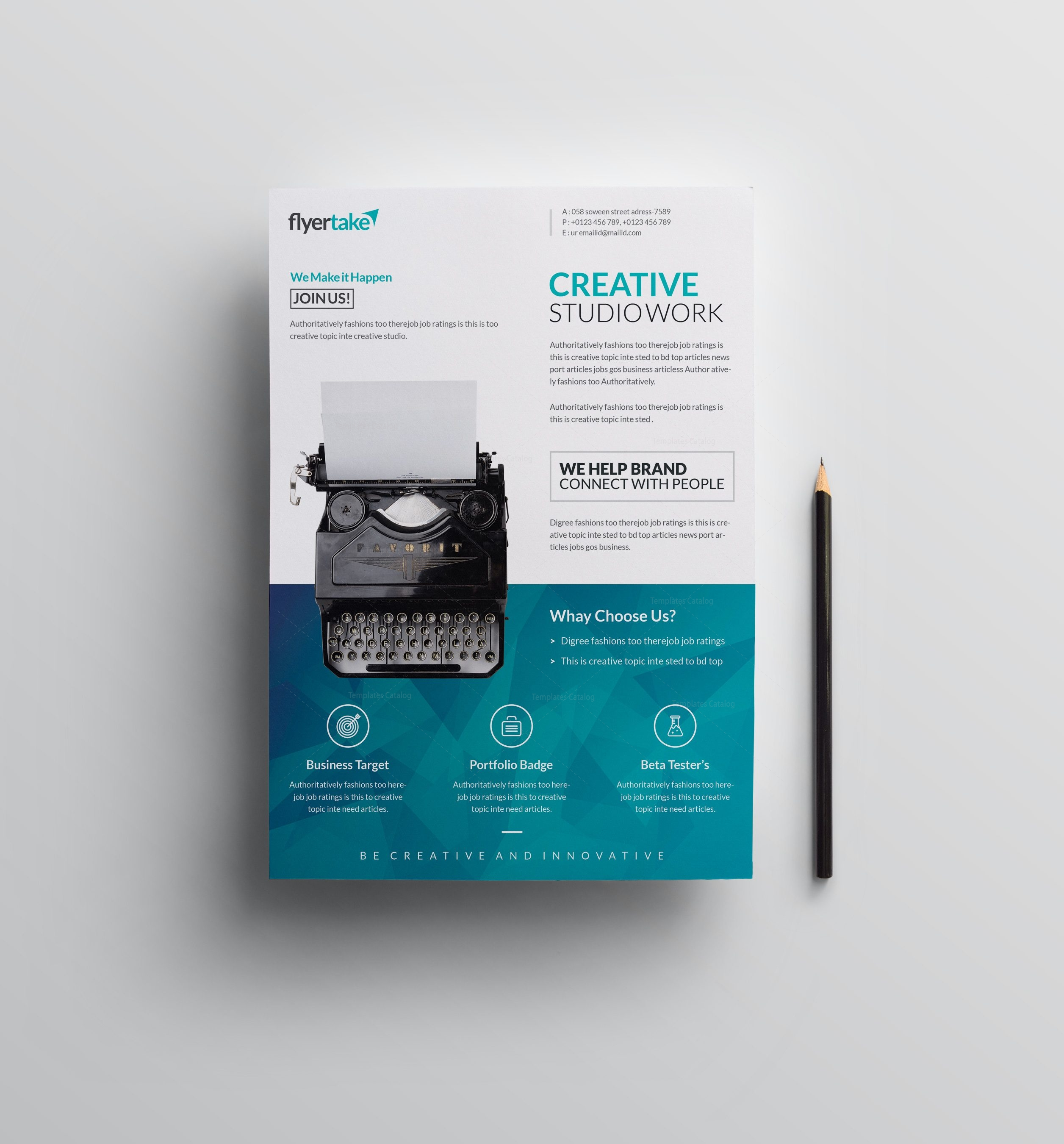 Ocean elegant premium business flyer template 001071 template catalog ocean elegant premium business flyer template 1 flashek Image collections