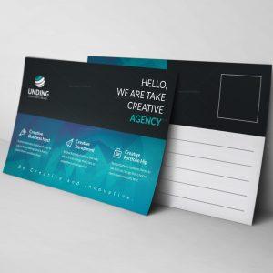 Ocean Modern Elegant Postcard Template