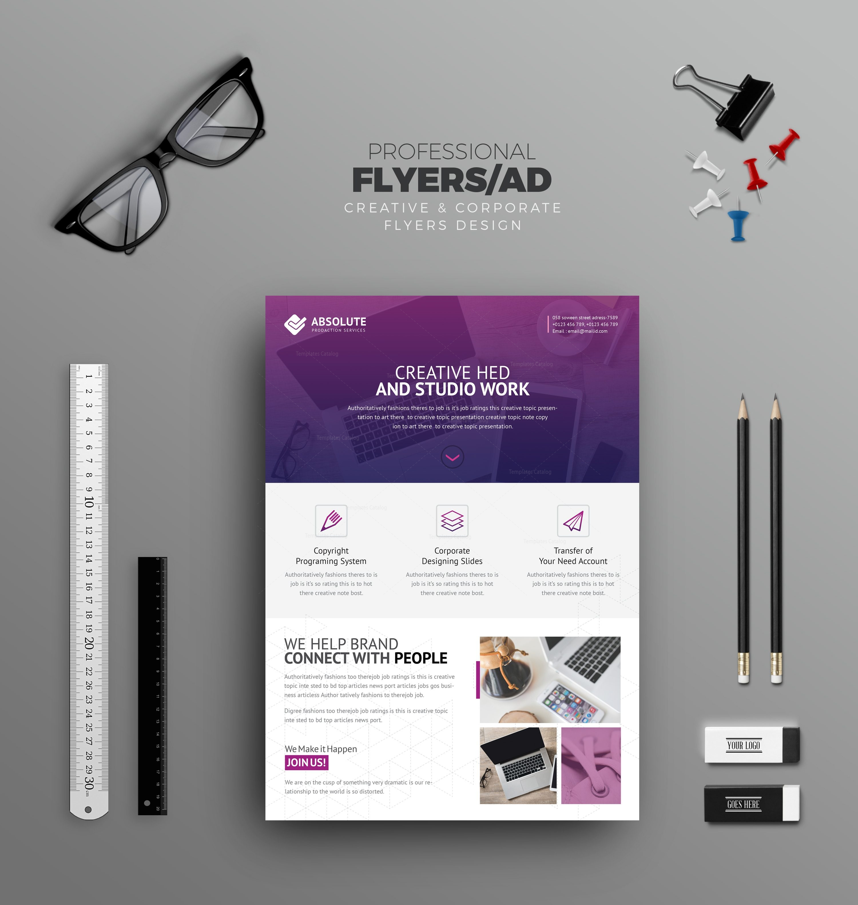 Olympus Stylish Professional Corporate Flyer Template 001033 ...