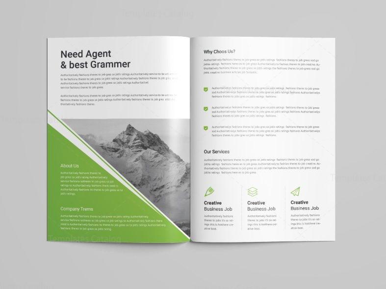 4 fold brochure template - pearl professional bi fold brochure template 001100