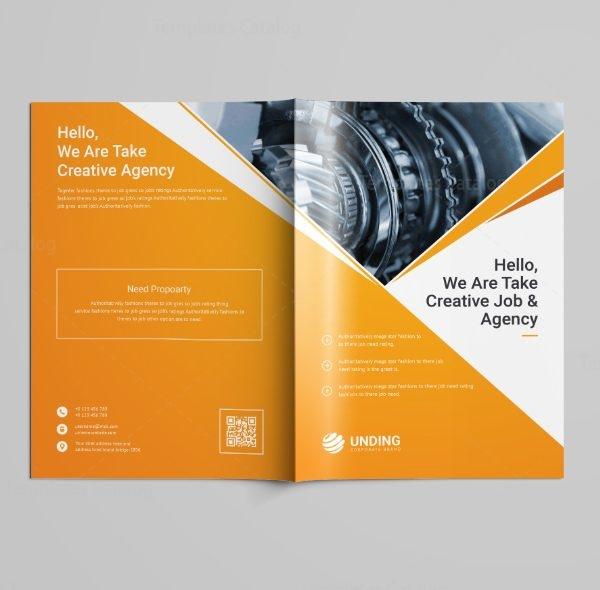 Pearl Professional Bi-Fold Brochure Template 5