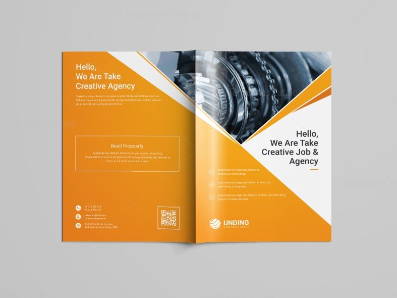 Pearl Professional Bi Fold Brochure Template 001100 Template Catalog