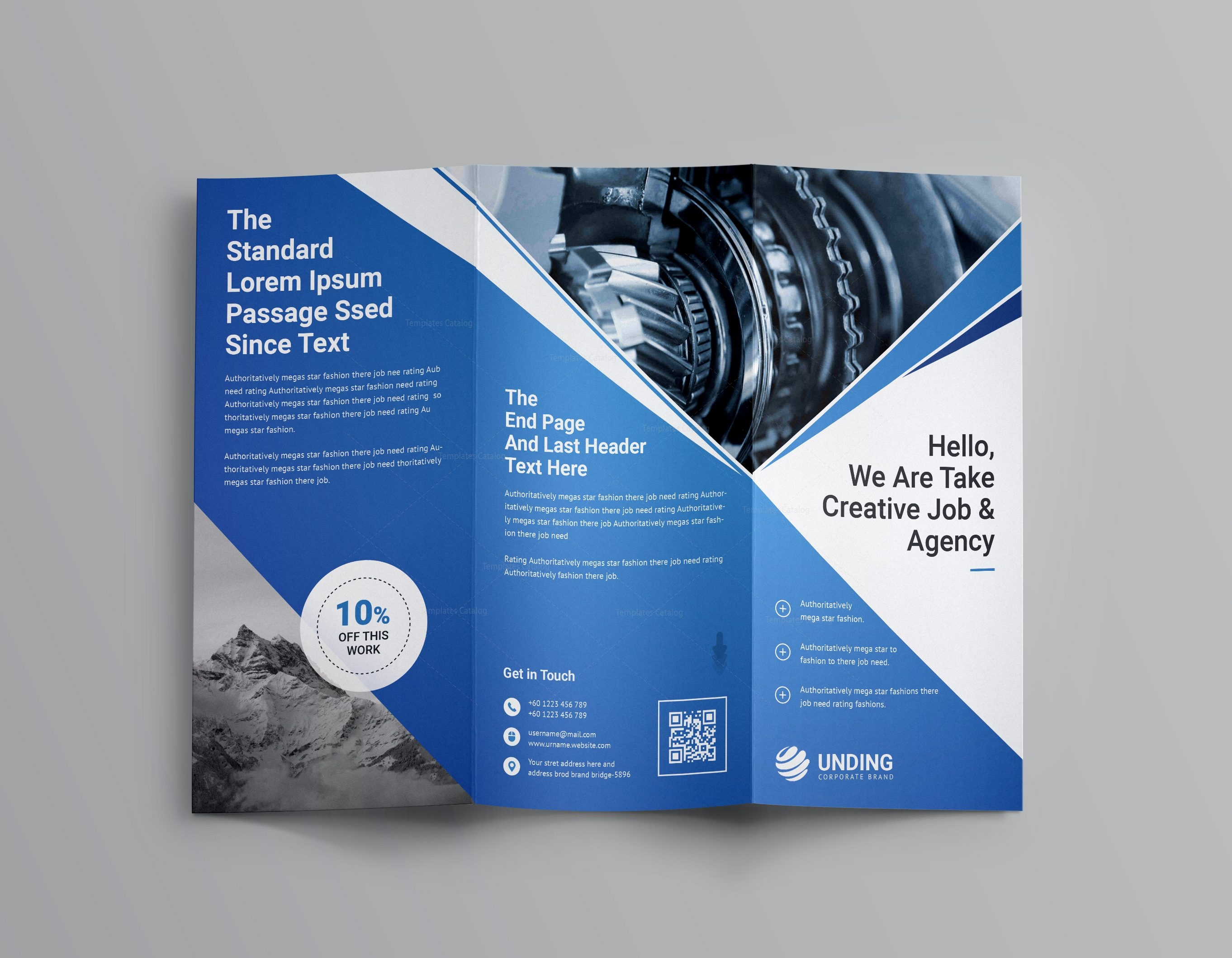 professional brochure template - pearl professional tri fold brochure template 001202