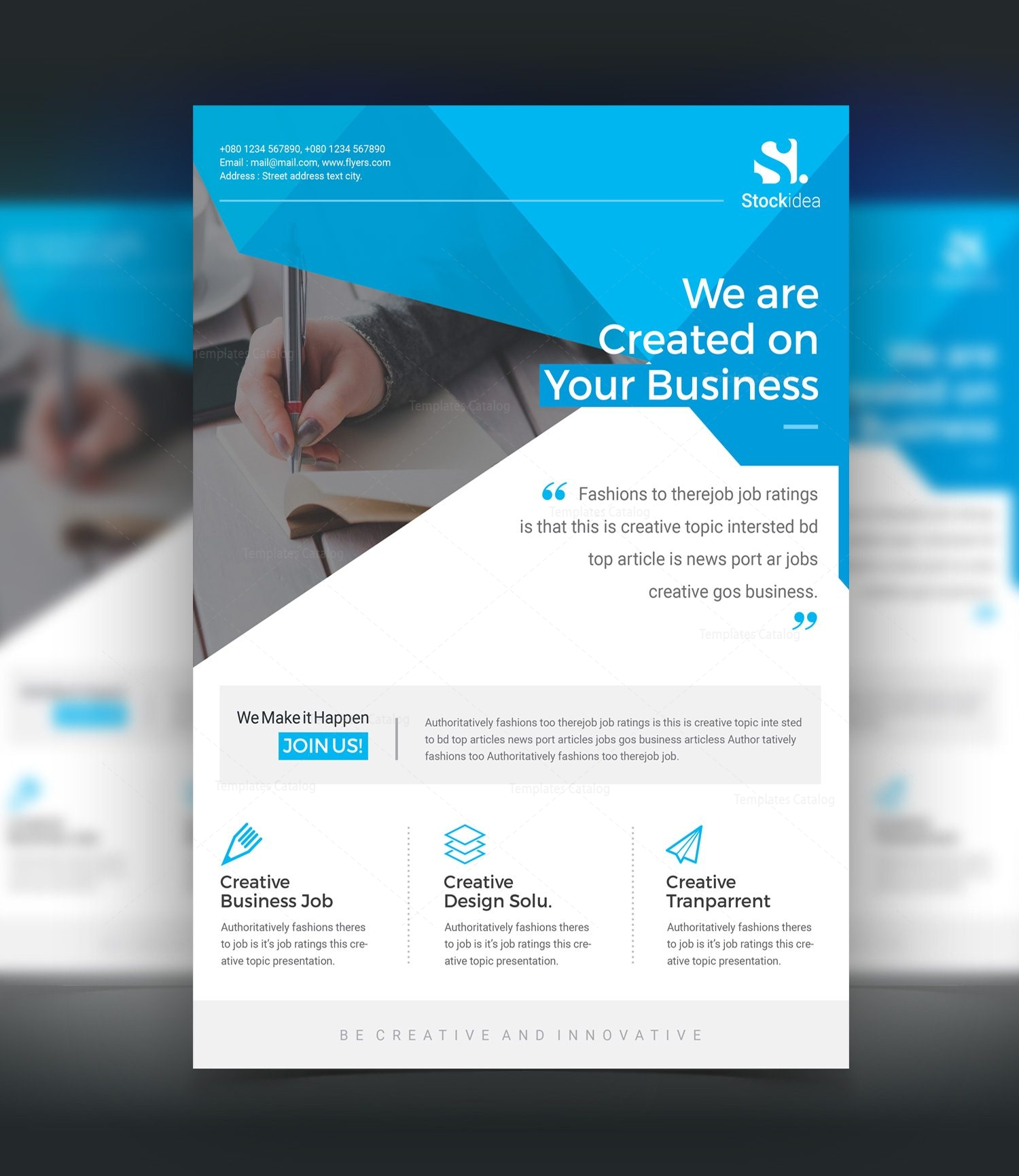 Professional Business Flyer Templates Forteforic