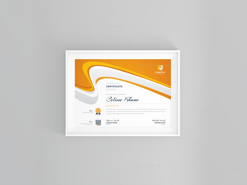poseidon modern professional certificate template 001122