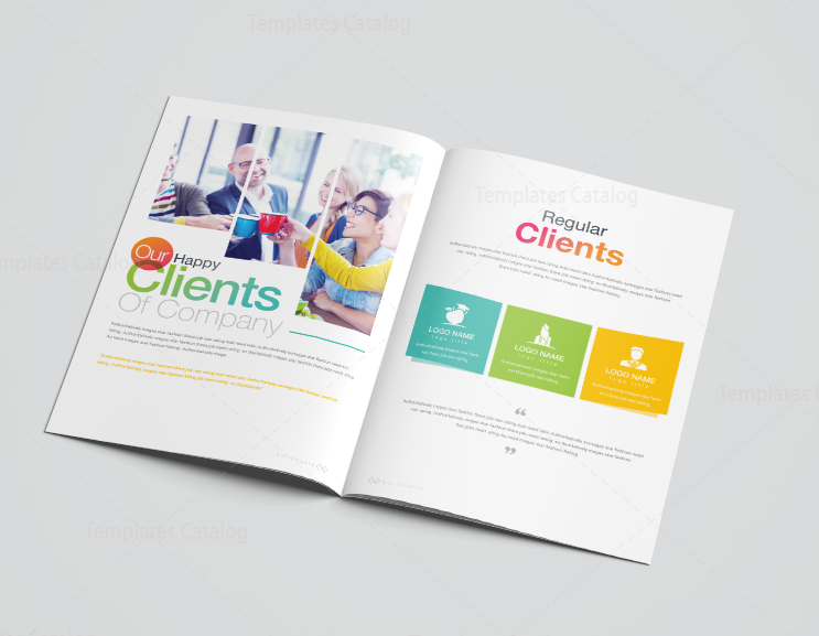 16 Pages Rainbow Elegant Corporate Brochure Template 001196