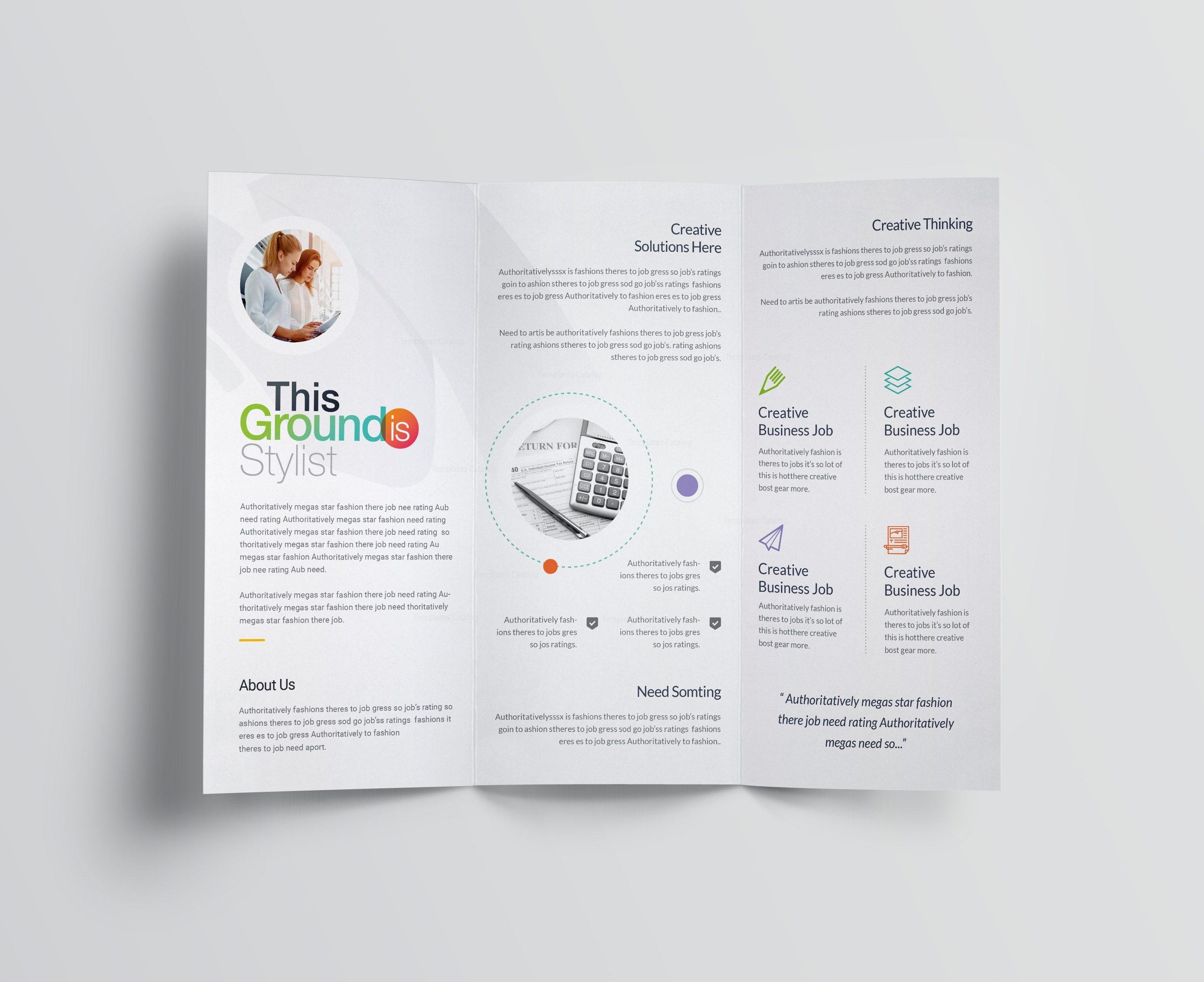 corporate tri fold brochure template