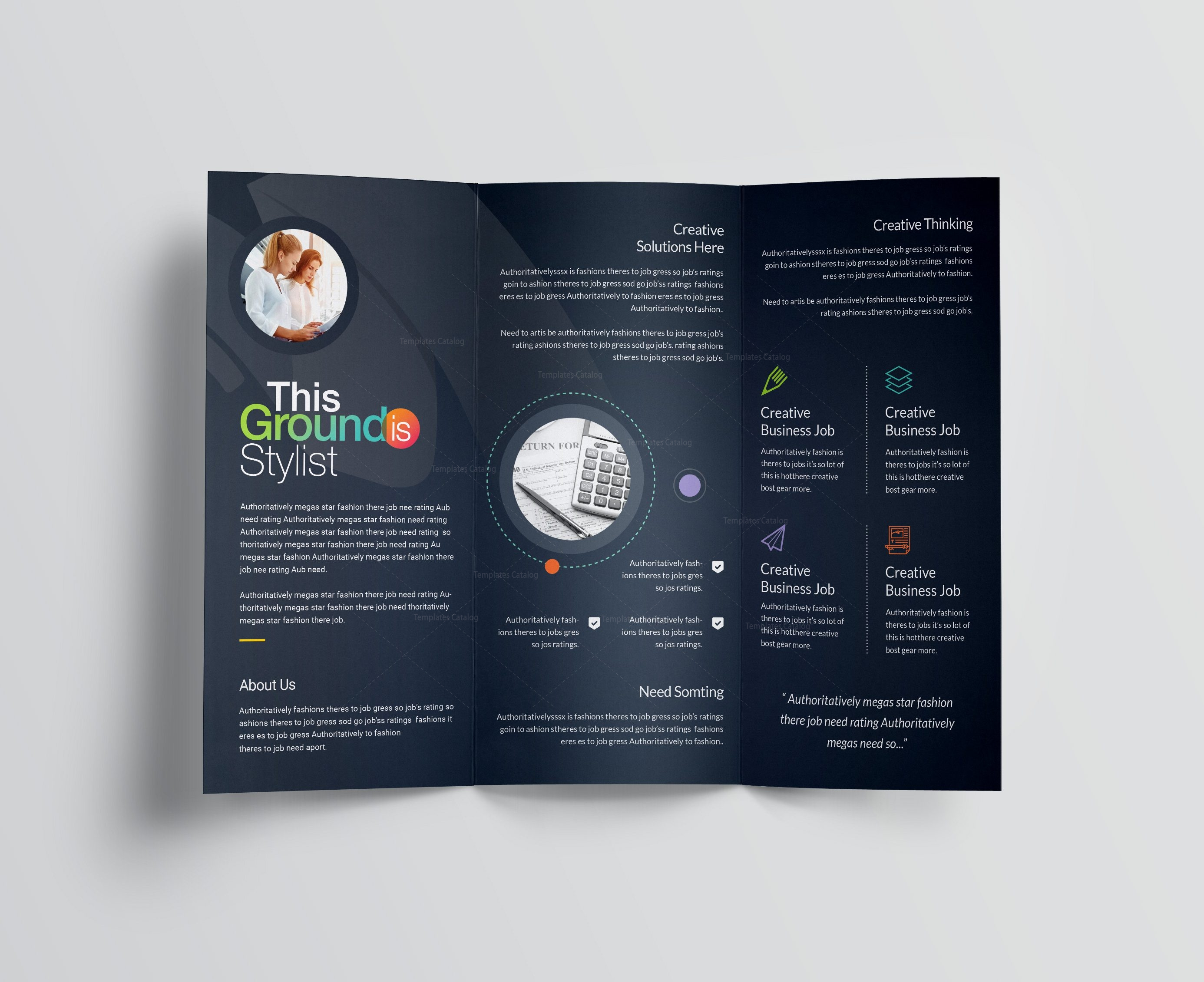Rainbow professional corporate tri fold brochure template 001209 rainbow professional corporate tri fold brochure template 5 saigontimesfo