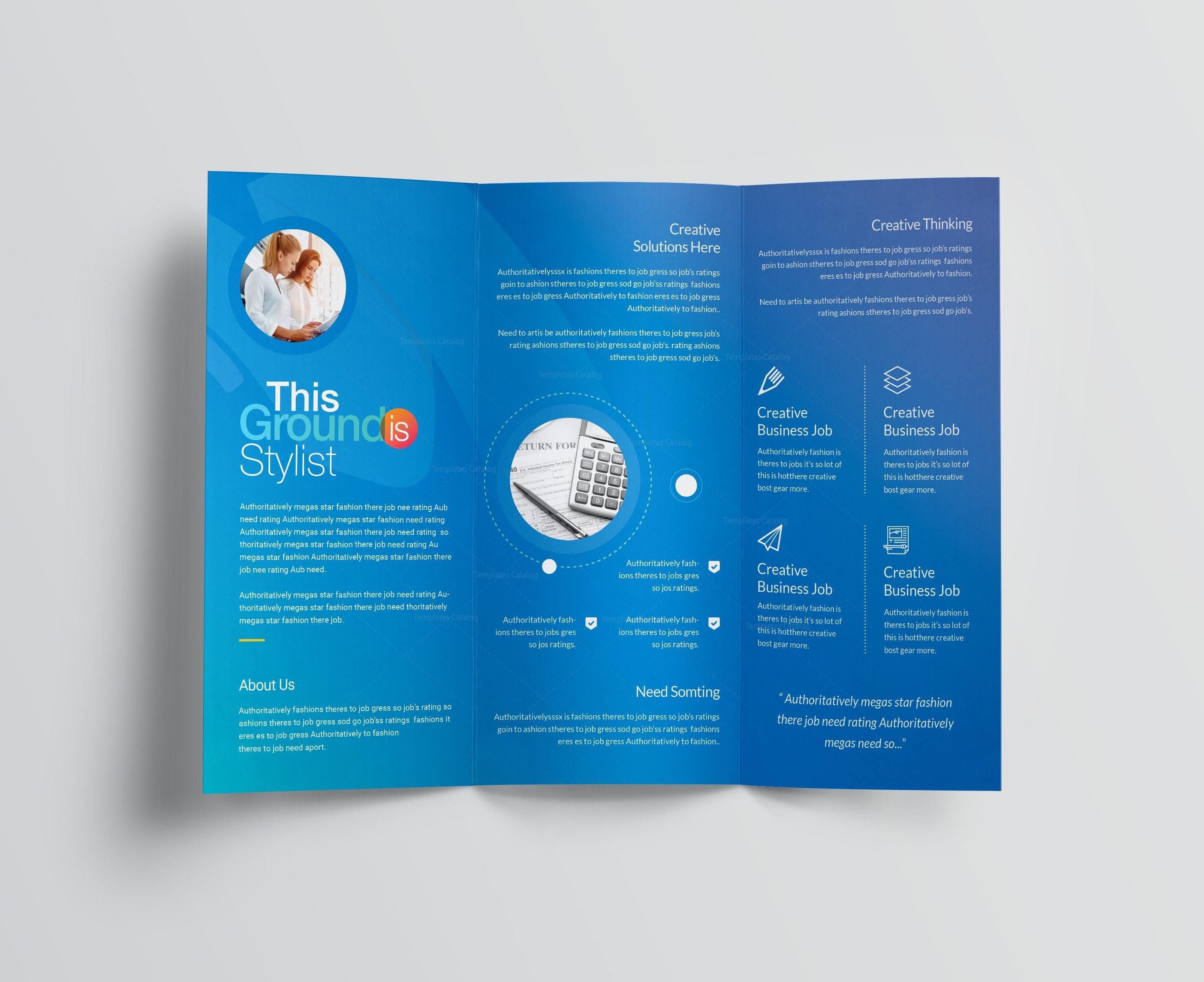 corporate tri fold brochure template - rainbow professional corporate tri fold brochure template