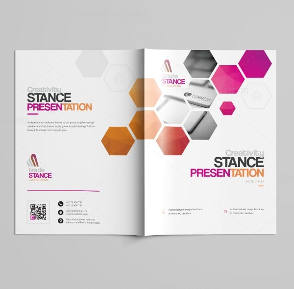 Saturn Professional Bi-Fold Brochure Template 5