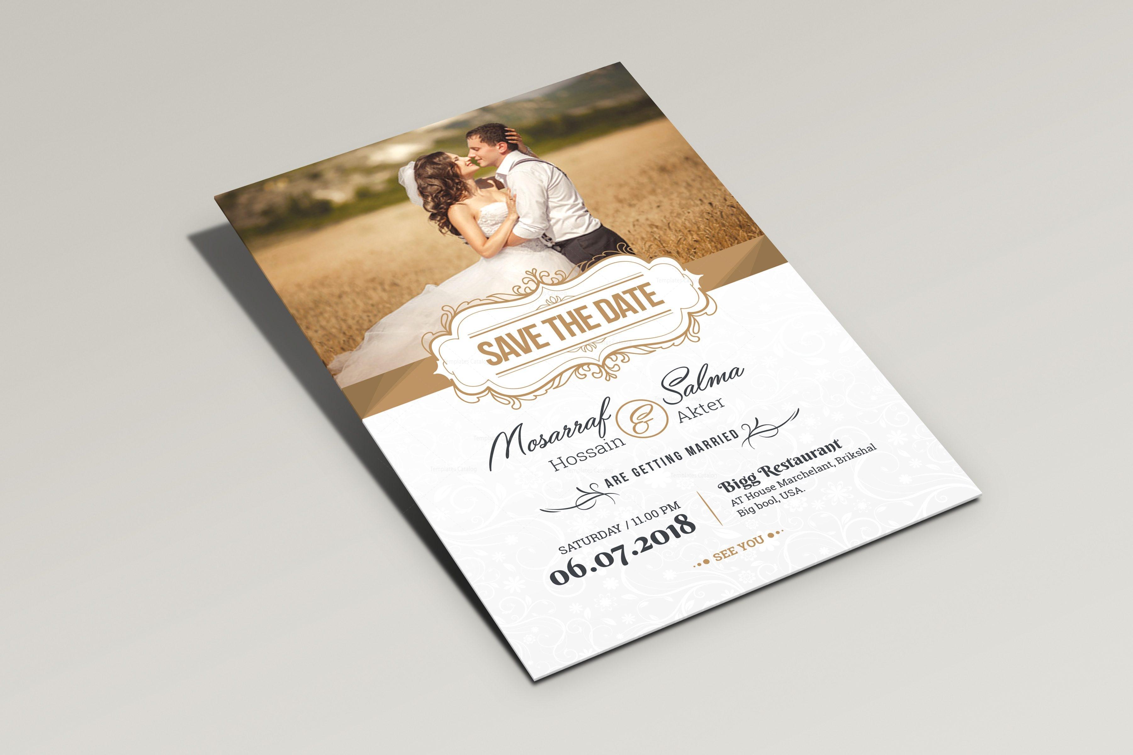 wedding invitation postcard templates
