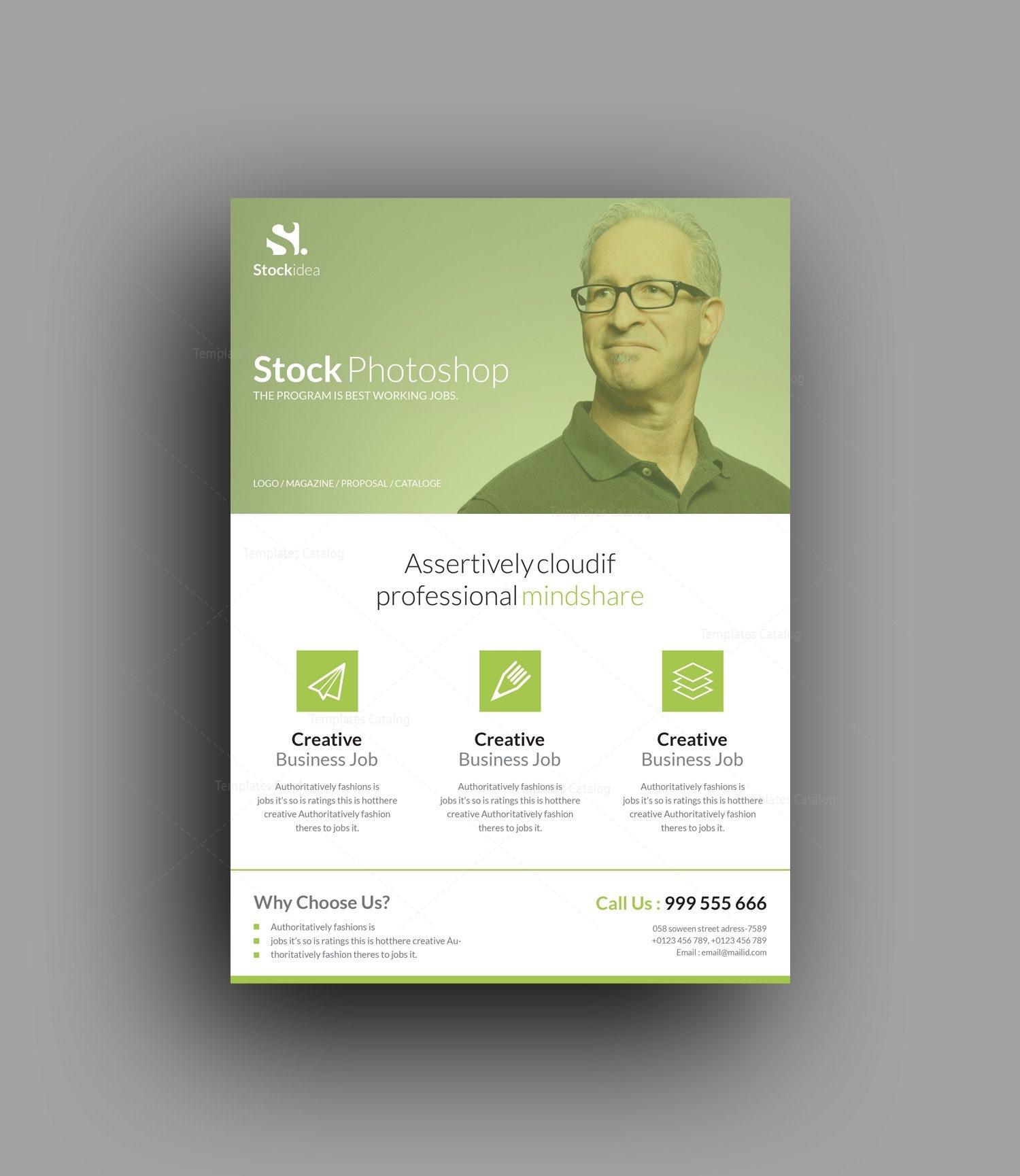 Stock modern stylish business flyer template 001053 template catalog for Modern flyers template