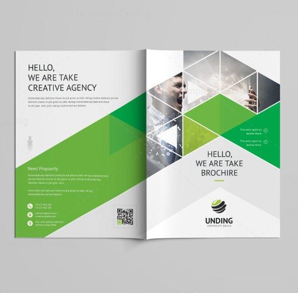 Stunning Professional Bi-Fold Brochure Template 3