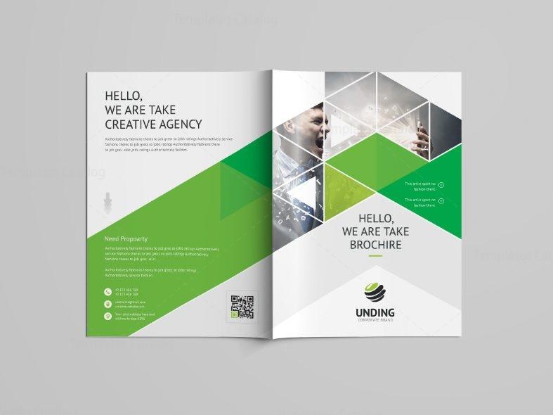 Stunning Professional Bi Fold Brochure Template 001094 Template