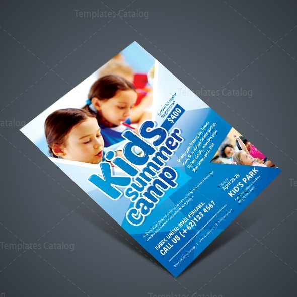 Stylish Kids Camp Party Flyer Template   Template Catalog