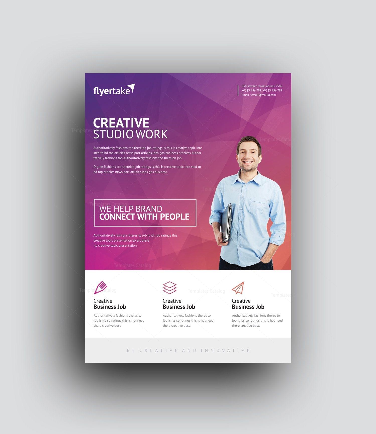 thanatos stylish professional corporate flyer template 001017