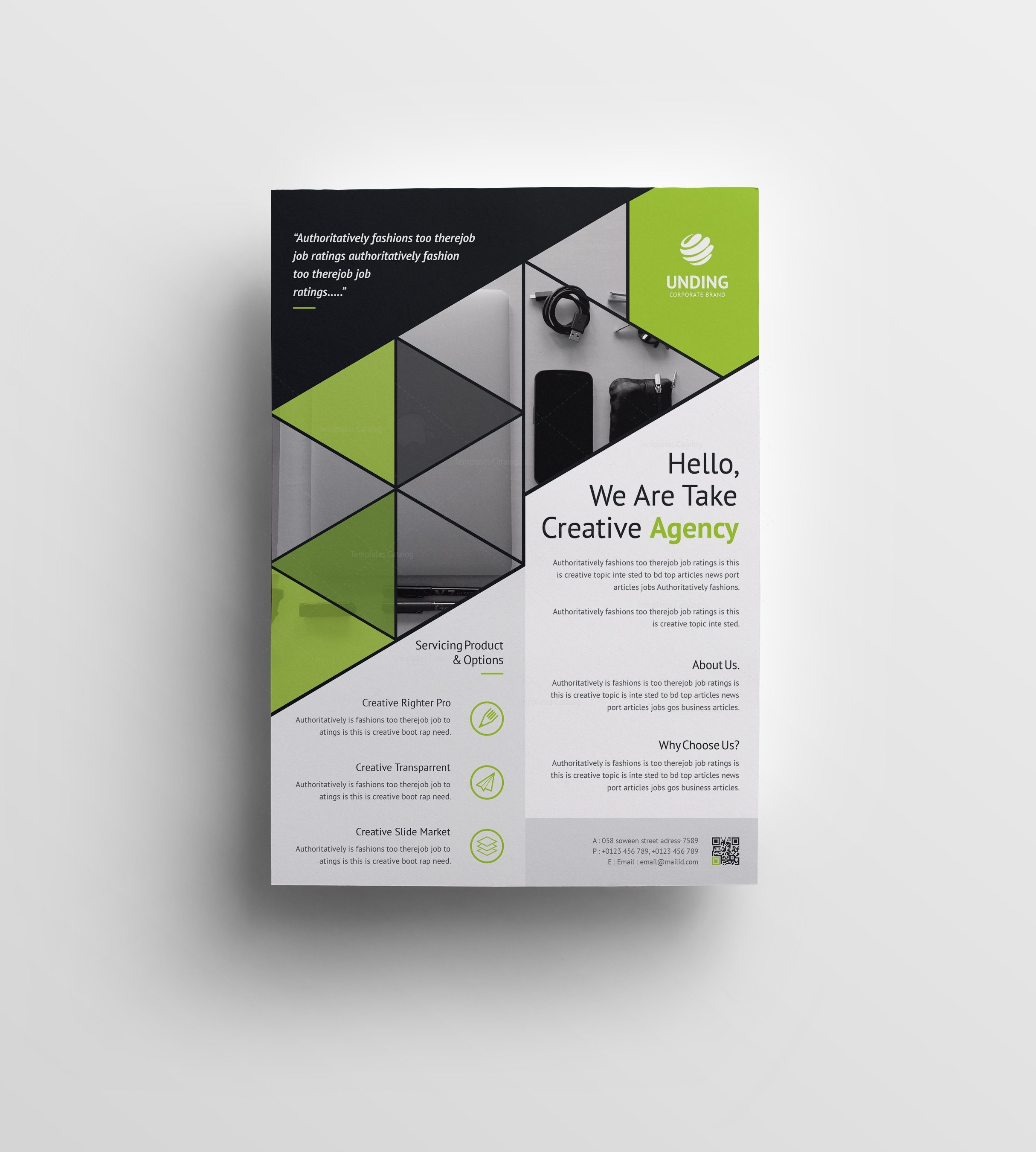 Triangle elegant premium business flyer template 001063 template triangle elegant premium business flyer template 3 accmission Choice Image