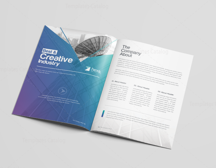 uranus elegant corporate brochure template 3