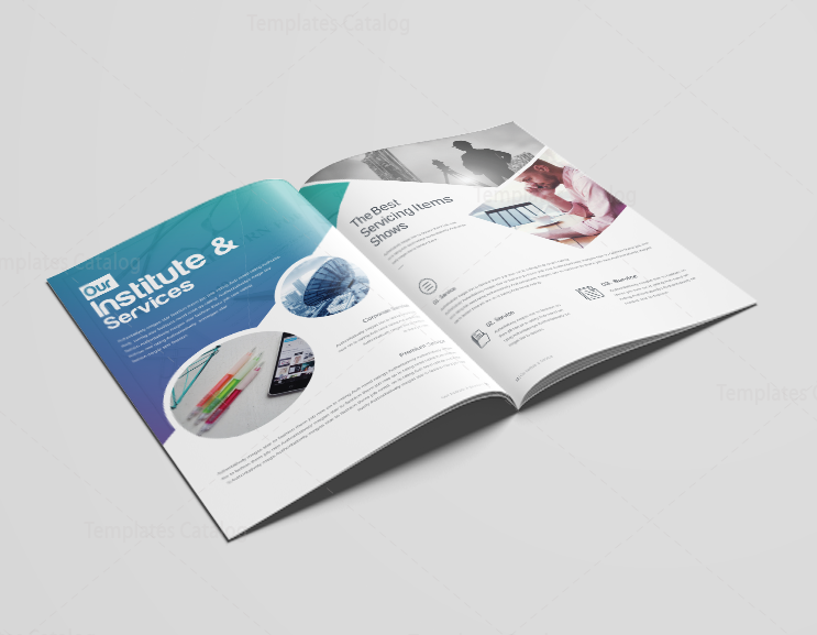16 Pages Uranus Elegant Corporate Brochure Template 001192