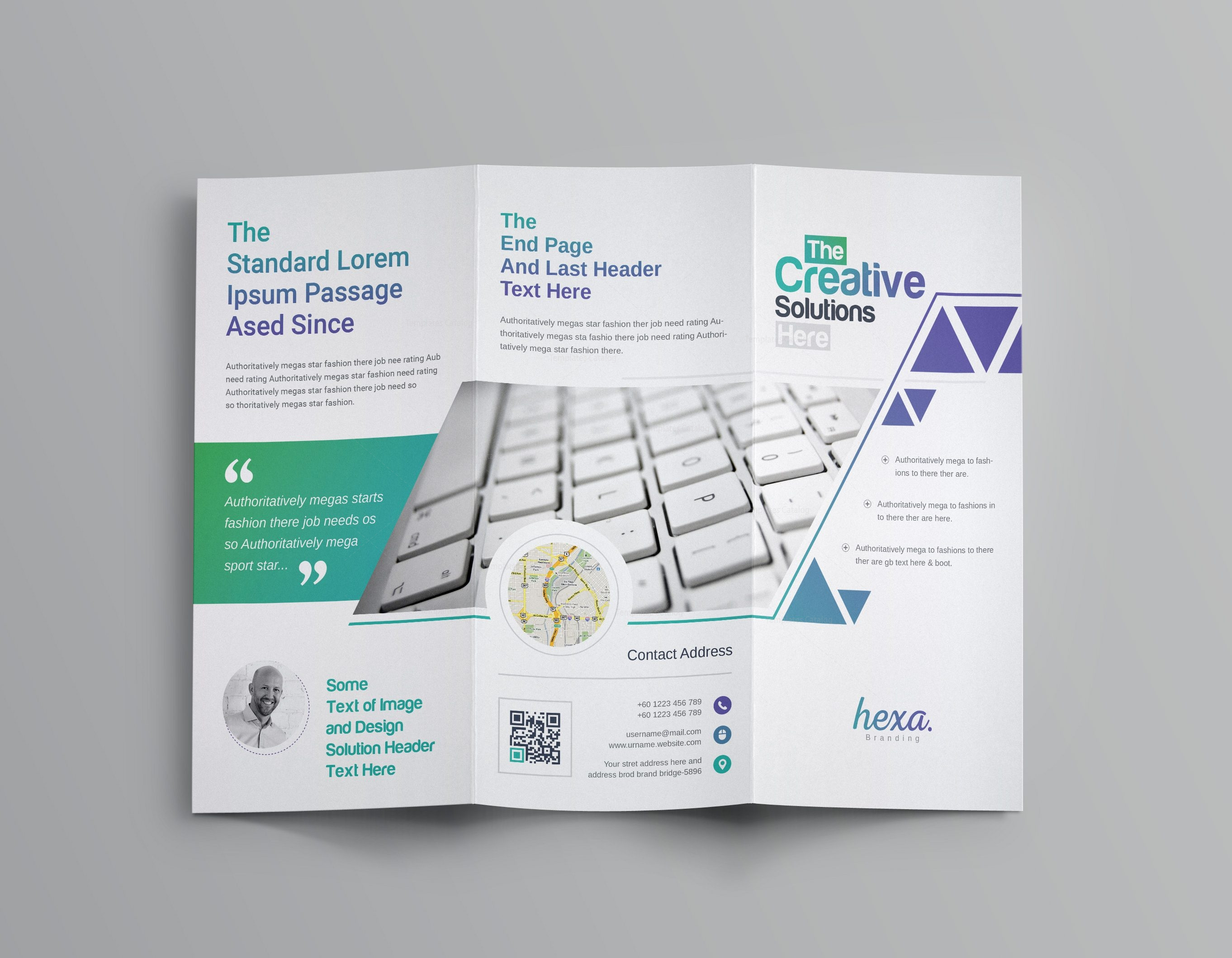 uranus professional corporate tri fold brochure template 5