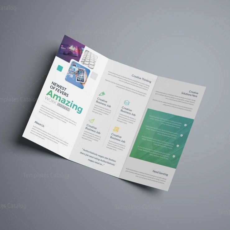 Vega Professional Corporate Tri Fold Brochure Template 001208