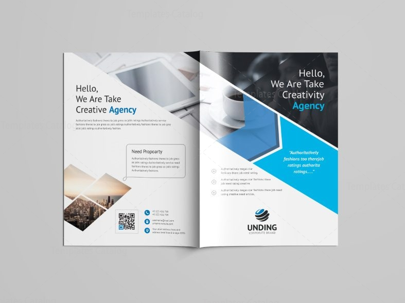 Versatile professional bi fold brochure template 001089 for One fold brochure template