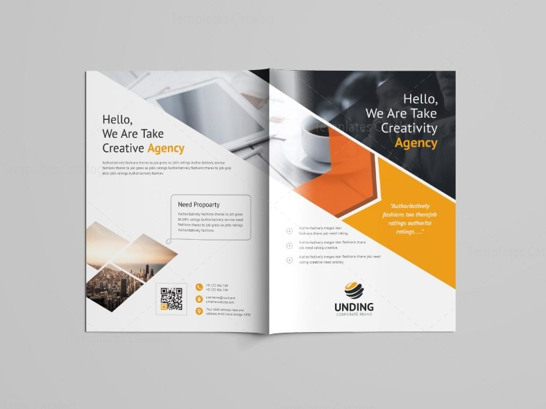 Versatile professional bi fold brochure template 001089 for Professional brochure templates