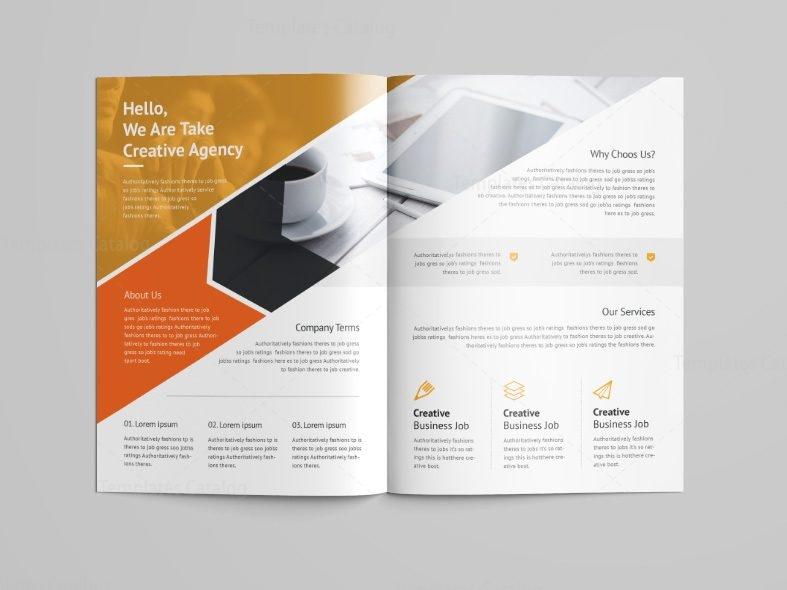 Versatile professional bi fold brochure template 001089 for 6 fold brochure template