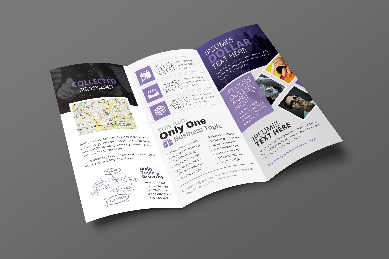 Zephyrus Modern Corporate Tri Fold Brochure Template 001215