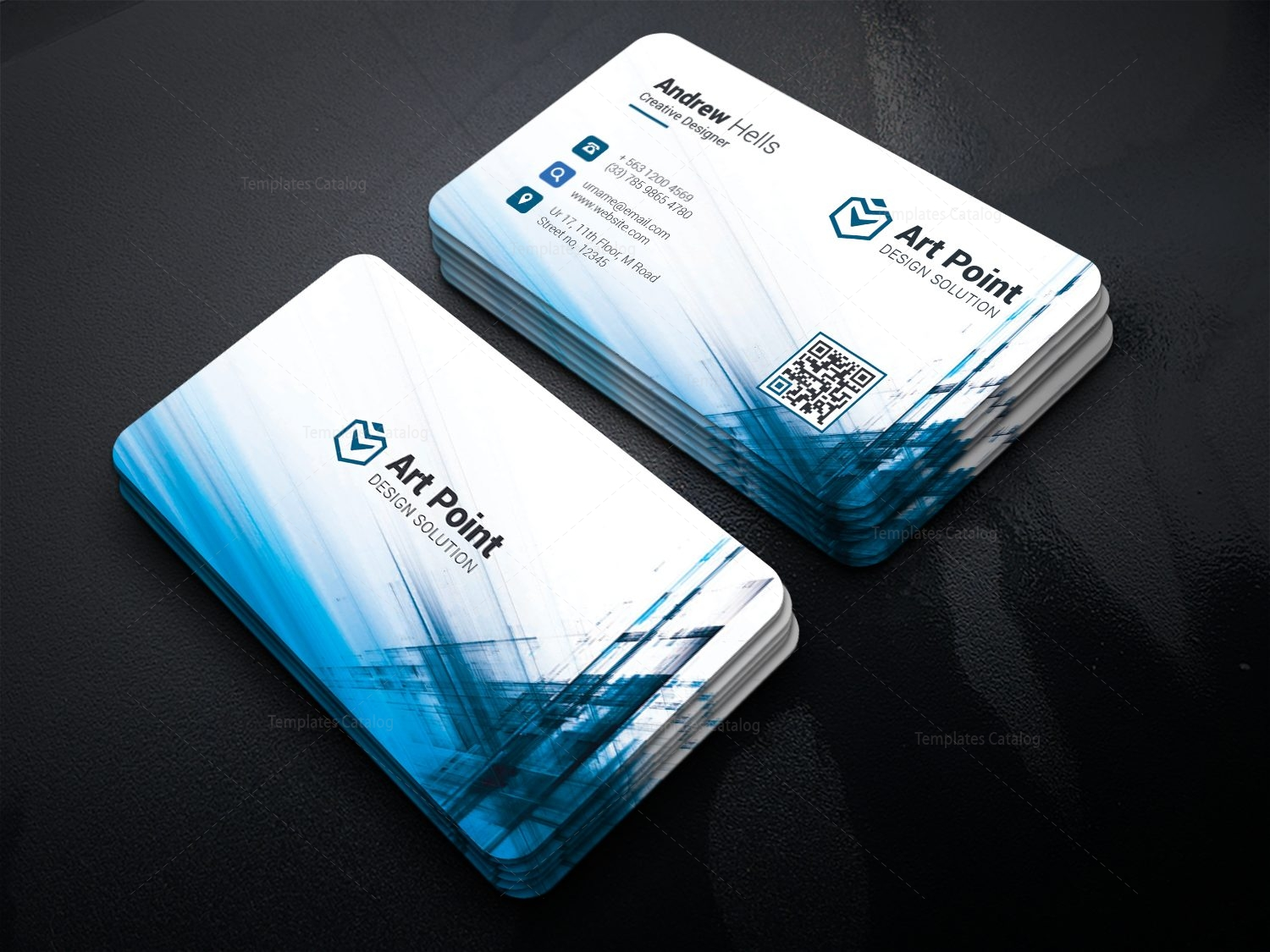 Aether professional corporate business card template 001317 aether professional corporate business card template 1 accmission Image collections
