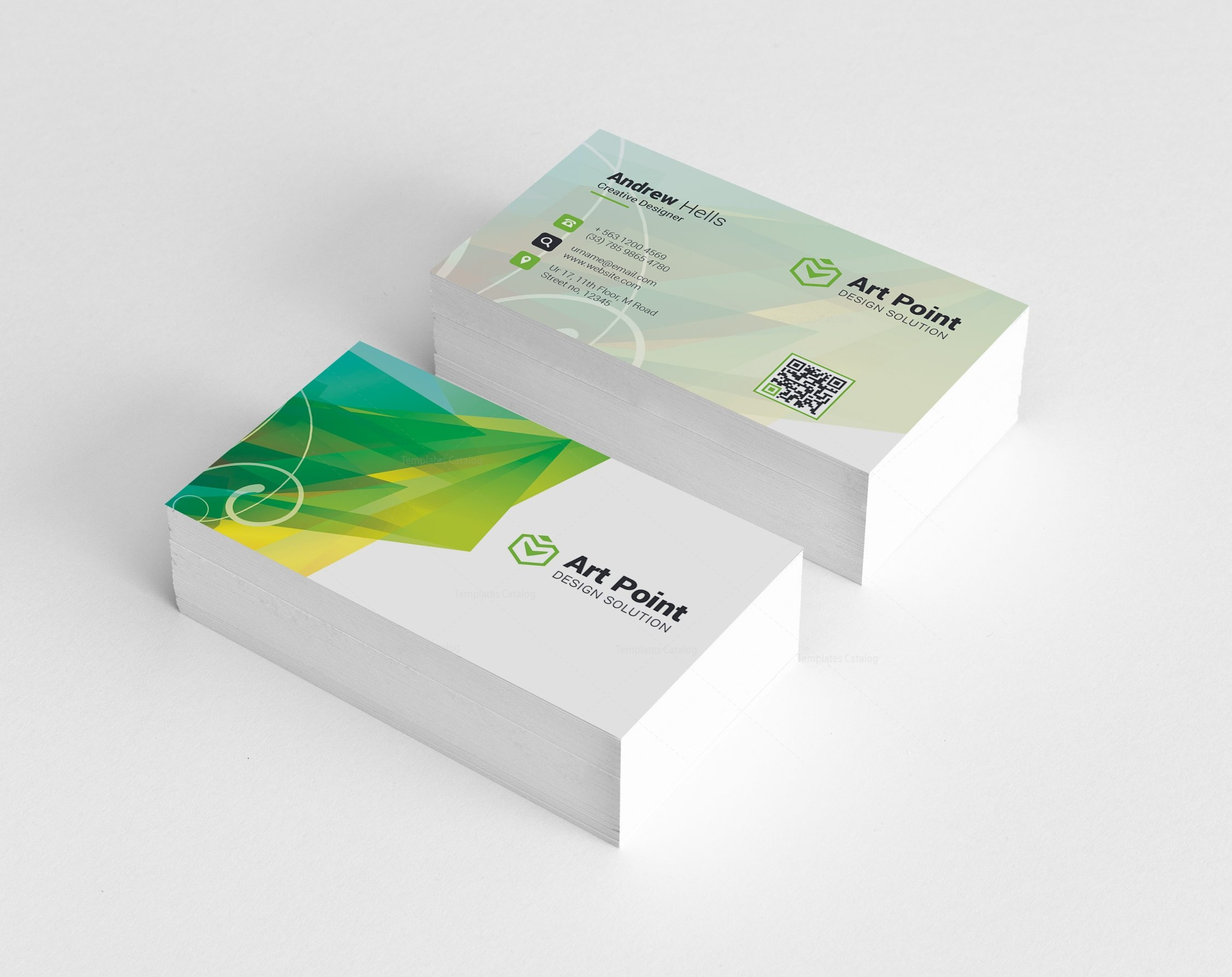 Ares Professional Corporate Business Card Template 001320 - Template ...