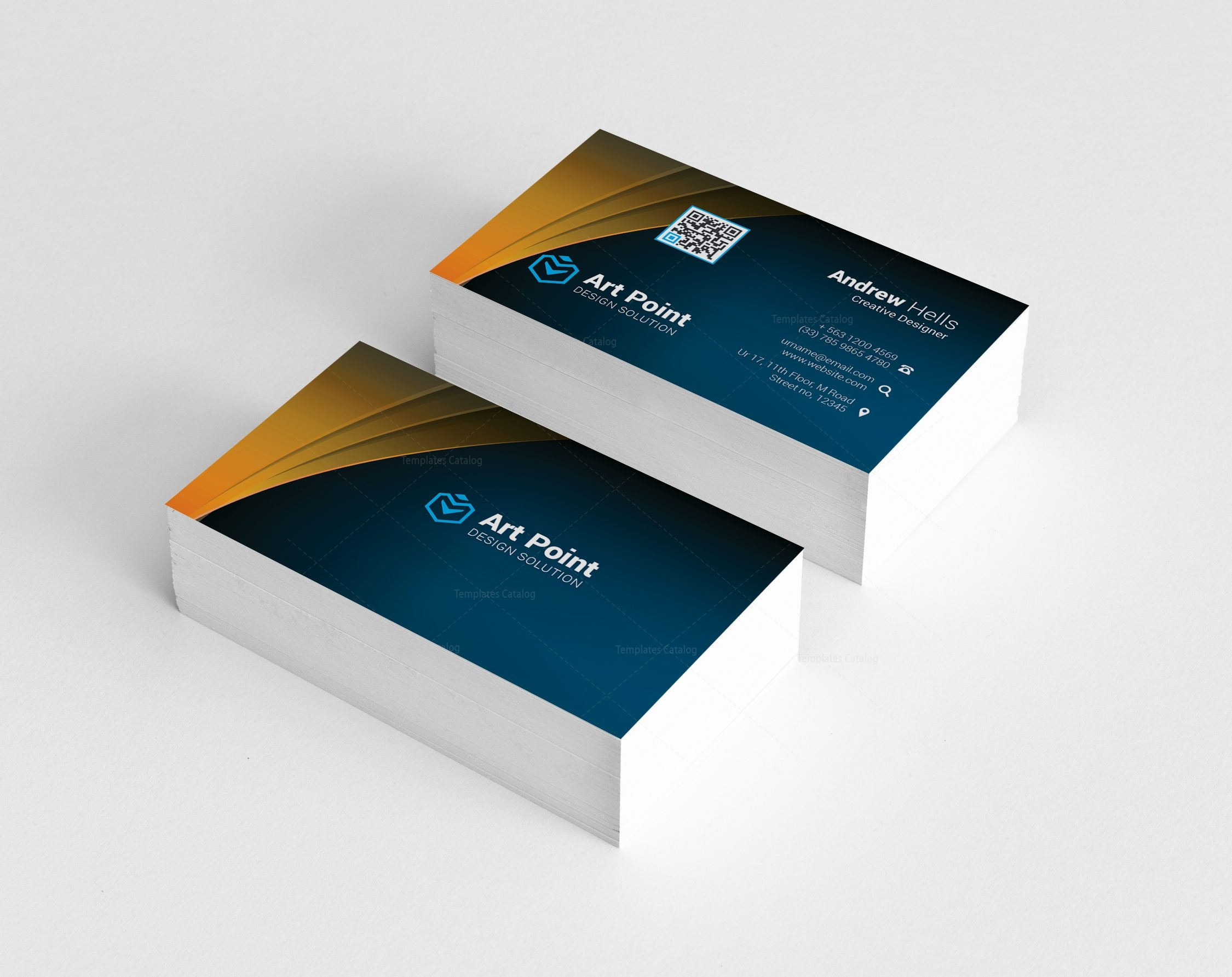 Asclepius Professional Corporate Visit Card Template 2