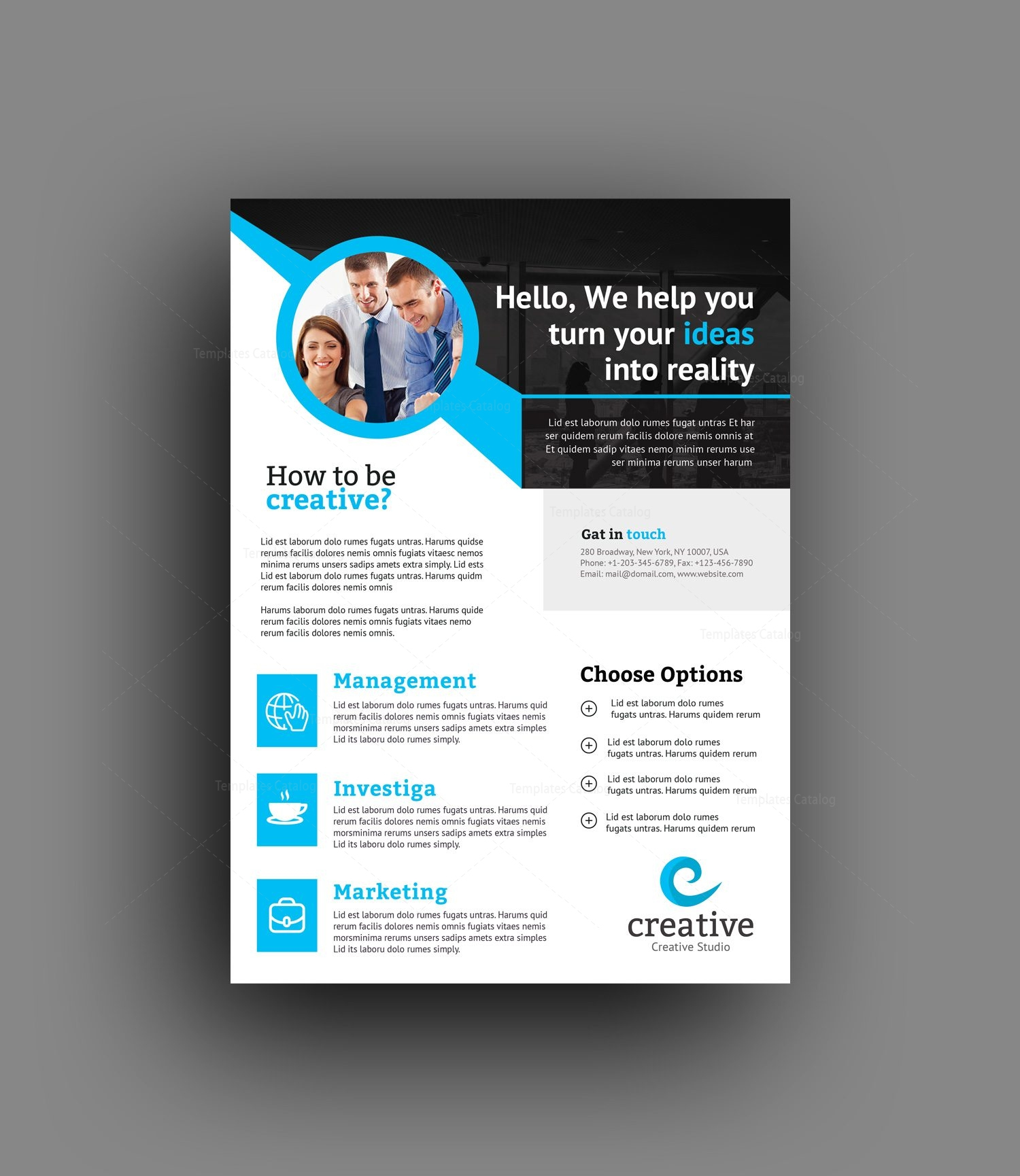 Professional Flyer Design Templates: Atlanta Modern Professional Flyer Template 001389