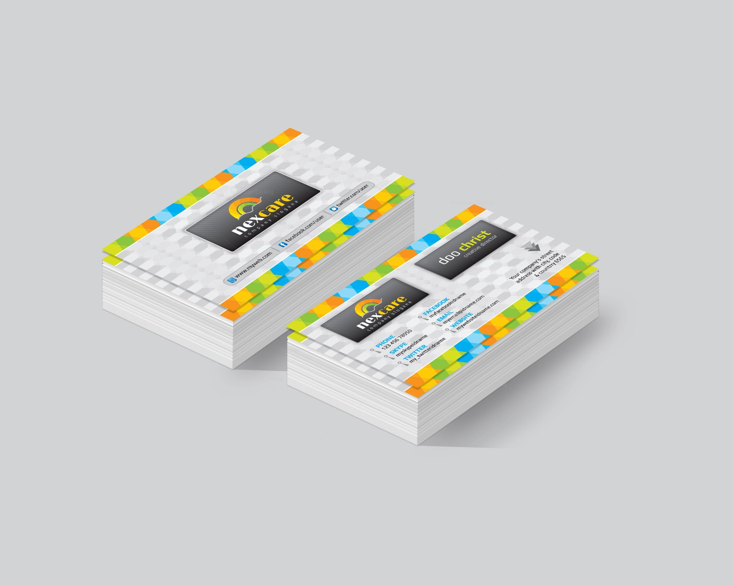 Augusta Premium Corporate Business Card Template 001450 - Template ...
