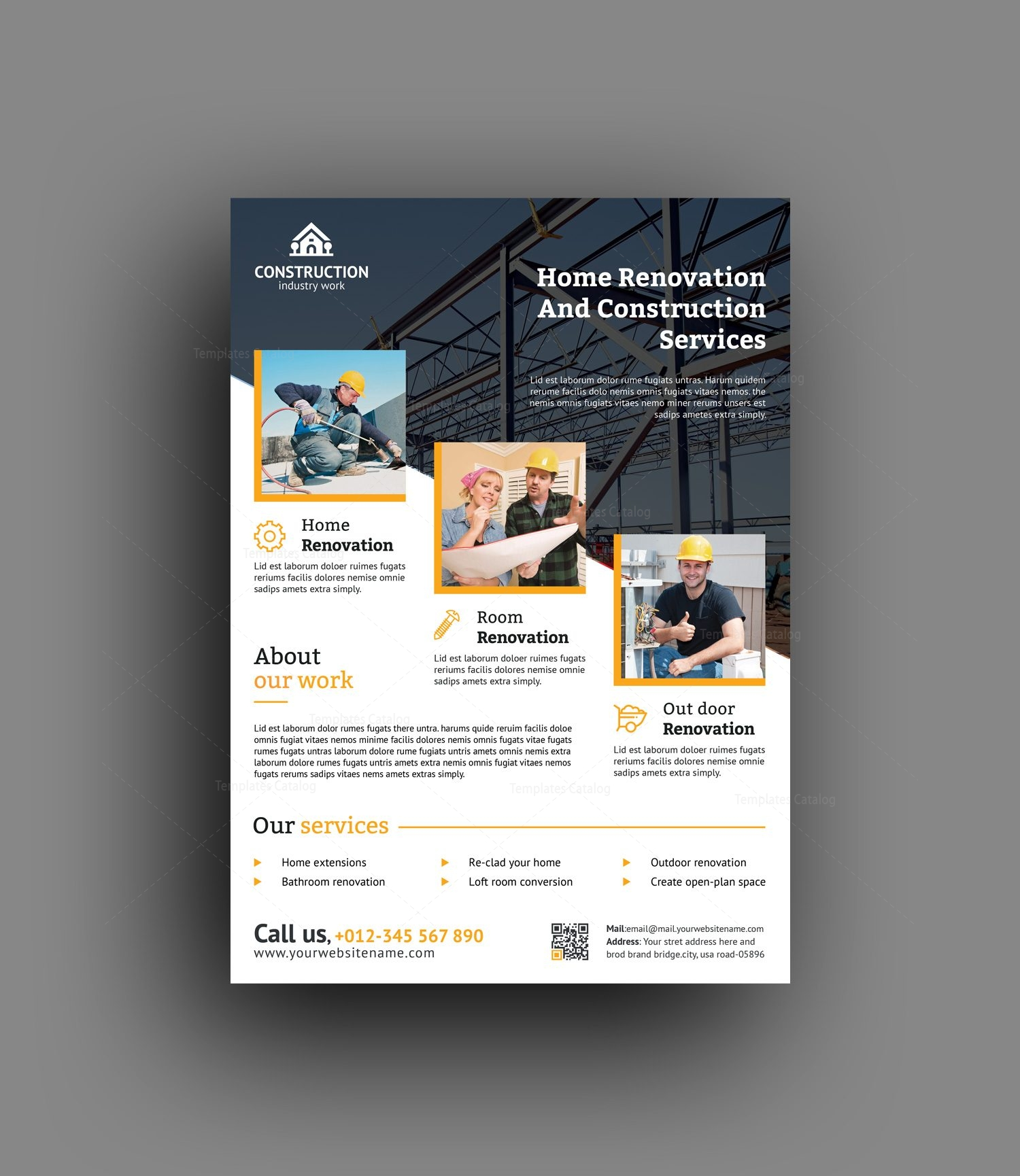 best construction flyer design template 001492 template catalog