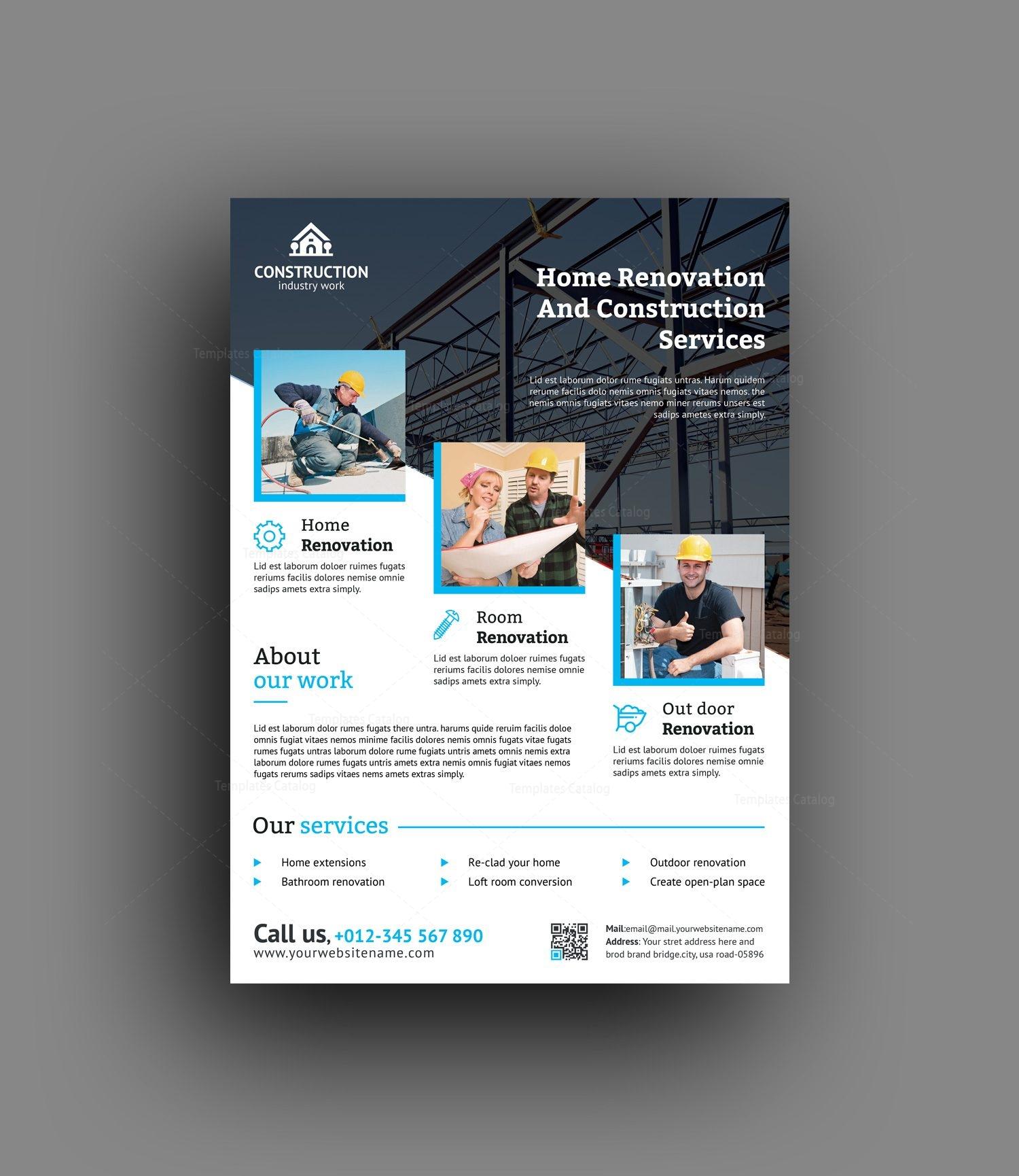 Best Construction Flyer Design Template 001492 Template Catalog